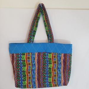 Holiday market bag gift bag handmade
